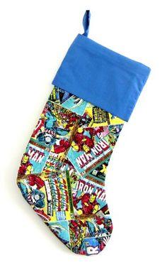 AVENGERS Christmas Stocking, Holiday Decor, Comic Superhero ...