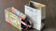 Tüten aus Zeitungen. .
