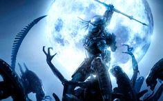 Aliens vs_ Predator Games sci-fi alien weapons moon battle
