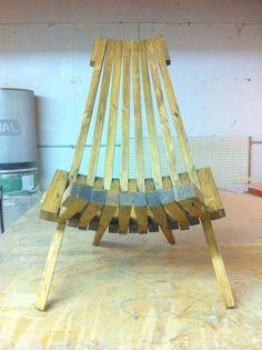 Wooden chair - Kentucky stick chair - Folding