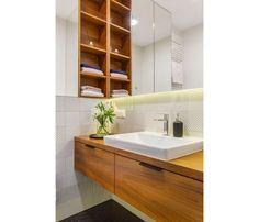 Mieszkanie na Woli - zobacz ciekawy miks stylów - Galeria - Dobrzemieszkaj.pl Vanity, Bathroom, Dressing Tables, Washroom, Powder Room, Vanity Set, Full Bath, Single Vanities, Bath