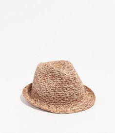 sombrero  bicolor  paja  · ZARA · 15 8eb1c4159431