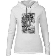 Mintage Weaver Birds Womens Fine Jersey Hooded T-Shirt