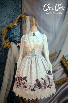 NyaNya Lolita -Love and Death- Lolita Corset Jumper Dress