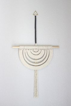 "Macrame Wall Hanging ""Energy Flow no.27"" by HIMO ART, One of a kind Handcrafted Macrame/Rope art"
