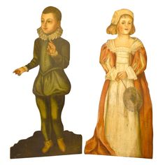 Dummy Boards of Boy and Girl   From a unique collection of antique and modern more antique and vintage finds at https://www.1stdibs.com/furniture/more-furniture-collectibles/more-antique-vintage-finds/