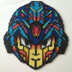 Mega Man perler bead art by dazer24 (photo: Dinnercrew Crafts)