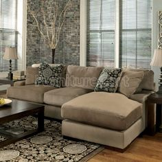Ashley FurnitureCosmo Marble 3 Piece RAF Sectional Sofa Chaise Armless Love Seat Amp Sofa