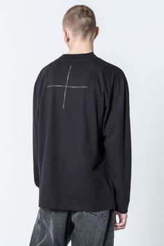 Cheap Monday Image 2 of Refuse Grid OMDB LS Tee in Black