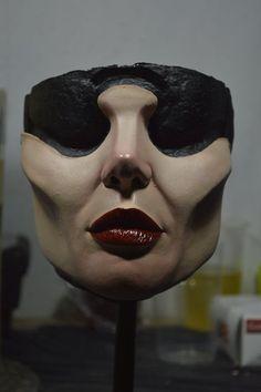 Maleficent - Angelina Jolie Maleficent Wangenknochen Weihnachten Original Geschenke Halloween zu Fuß Tote Monster Masken Latex Maske Angebot