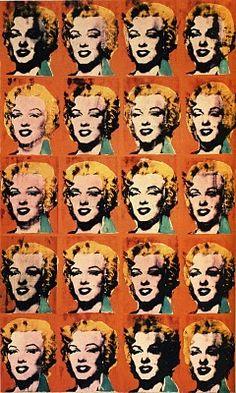 Warhol.  répétition/sérigraphie/contemporain/unité/variation