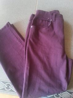 Gloria Vanderbilt Stretch Amanda Purple Jeans. Womens Sz 10 Short #GloriaVanderbilt #StraightLeg