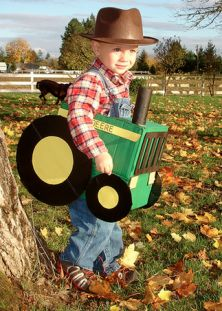 Farmer on his tractor | Cheap and Easy DIY Kids' Halloween Costumes | LearnVest