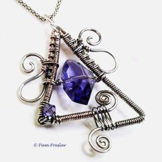 wire weaving jewelry | Woven Triangle Pendant » Books by Pam