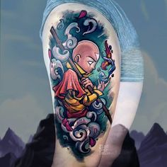 I love doing avatar pieces. Im so happy I could cry. One Piece Tattoos, Body Art Tattoos, Sleeve Tattoos, Avatar Tattoo, Avatar Aang, Avatar The Last Airbender Art, Piercing Tattoo, I Tattoo, Piercings