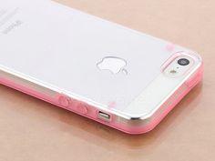 Ultra Thin Pink Transparent Bumper Case Skin PC Frame for iPhone 5 5th Pen | eBay