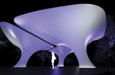 Fabric Structures designed by Zaha Hadid