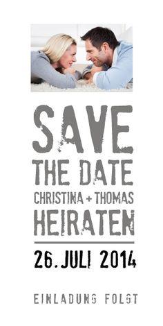 Save-the-Date Karte zur Hochzeit