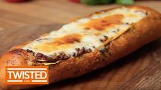 Lasagna Garlic Bread Boat