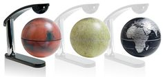 Earth, Moon and Mars Levitating Globes (Free Shipping) Innovative levitating globes. Earth, Lunar, and Martian landscapes represented in striking detail.