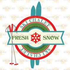 Ski Chalet svg Holiday svg Holiday decor svg Winter svg Winter decor svg Christmas svg Christmas decor svg Silhouette svg Cricut svg eps dxf by HoneybeeSVG on Etsy