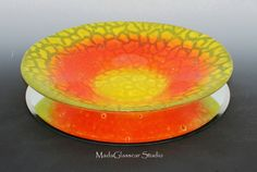 Sorbet+Color+Fused+Glass+Bowl+van+MadaGlasscarStudio+op+Etsy