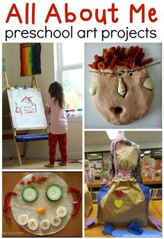 All about me preschool art ideas - Include some of these fun activities in your all about me preschool theme! All About Me Eyfs, All About Me Topic, All About Me Crafts, All About Me Art, Preschool Art Projects, Preschool Arts And Crafts, Preschool Lessons, All About Me Preschool Theme Activities, Preschool About Me
