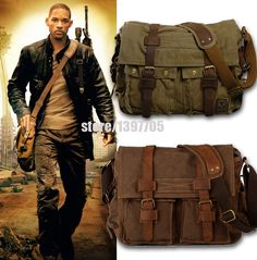 Cheap bag monogram, Buy Quality bag watch directly from China bags made of cloth Suppliers: HOT Canvas crossbody bags for women,I AM LEGEND Will Smith military vintage men messenger bags Casual men's travel bags