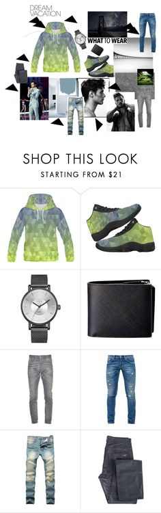 """""""Men's Denim w/ Green"""" by sugarpuddinboutique ❤ liked on Polyvore featuring Burberry, Dsquared2, Dondup and Givenchy"""