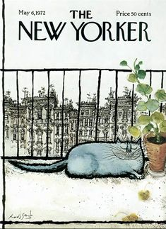 The New Yorker, New Yorker Covers, Graphisches Design, Book Design, Capas New Yorker, Ronald Searle, Magazine Art, Magazine Covers, Cat Drawing
