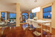 Open concept modern living space