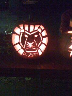 ADPi pumpkin @Alpha Delta Pi
