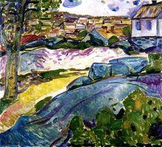 Houses in Kragerø - Edvard Munch 1912