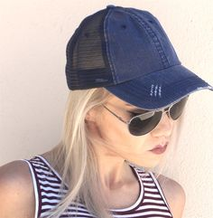 Grab these everyday herringbone cotton twill hat featuring contrast stitches,Velcro strap, and frayed bill.