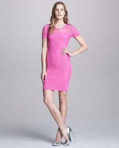 Short-Sleeve Knit Dress by McQ Alexander McQueen at Bergdorf Goodman.