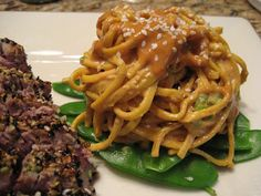 Mission: Food: Cold Sesame Noodles and Snow Peas
