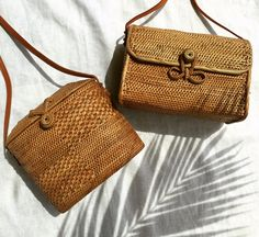The Ruby + Lottie rattan basket bags.