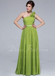 253abeb8fb5 Red One Shoulder Chiffon Prom Gown Bridesmaid Dresses   Dresses   Pinterest    Dresses, Prom dresses and Bridesmaid dresses