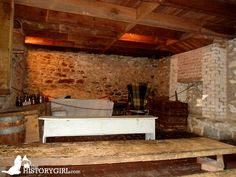 The basement of the Jennie Wade House in Gettysburg, PA. Built in 1842, this home was witness to the Battle of Gettysburg. Mary Virginia Wade, better known as Jennie Wade, was the only civilian killed during the battle on July 3, 1863 while baking bread for Union soldiers. She was instantly killed by a single bullet that traveled through 2 wooden doors. The house was the residence of her sister, Georgia McClellan, who had given birth on July 1. Discover more history @ www.thehistorygirl.com