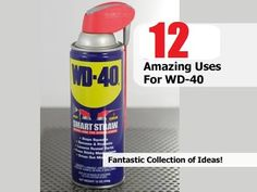 Most of us have a can of WD-40 sitting around somewhere, probably in the garage. Honestly I don't even know where mine is. I used to only use it when I had a rusty screw or nail I needed to pull out. I'm buying a new can though and putting it somewhere I can find it, because it turns out that...