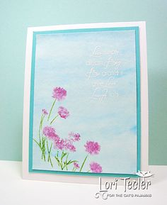 Watercolored Blooms card-designed by Lori Tecler/Inking Aloud-stamps from The Cat's Pajamas