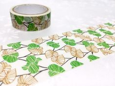 Green leaves Washi Masking Tape 5M Autumn leaves Green plant green garden deco sticker tape plant diary gardening planner tape decor gift by TapesKingdom on Etsy https://www.etsy.com/listing/290242767/green-leaves-washi-masking-tape-5m