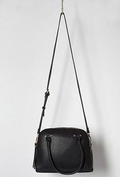 Double-Zip Faux Leather Satchel  5475c2292b987