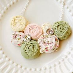LOVE this necklace!  I would like to do the roses as a lamp shade...hubby might freak about the flower detail...