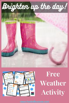 Introduce your preschooler to weather with this fun weather packet. Work on lots of preschool skills tied together with a weather theme. Preschool Weather, Weather Activities, Preschool Science, Fun Activities For Kids, Weather Lessons, List Of Skills, Starting School, Pre Writing, Lessons For Kids