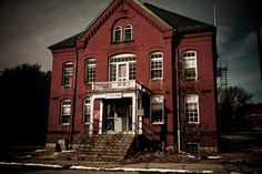 Featured in Shutter Island movie scenes... Medfield State Hospital in Medfield, Massachusetts (photographed in 2010 by Gretchen Caldwell).