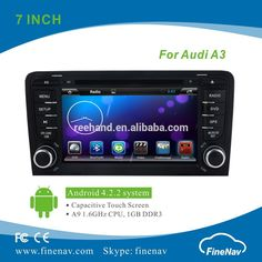 """""""Best Price Android 4.2 Car DVD for Audi A3 with Gps Navi,3G,Wifi,Bluetooth,Ipod Support Rear View Camera,DVR"""""""