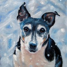 "Jack Russell Buster, representing the CUSTOM 10x10"" oil portrait painting by puci, $272"