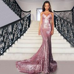 Mermaid Long Rose Pink Prom Party Dresses Sequins Spaghetti Strap Evening Gowns_Prom Dresses Dresses_Special Occasion Dresses_Buy High Quality Dresses from Dress Factory Sequin Prom Dresses, Backless Prom Dresses, Mermaid Prom Dresses, Cheap Prom Dresses, Prom Party Dresses, Homecoming Dresses, Dress Prom, Graduation Dresses, Prom Gowns