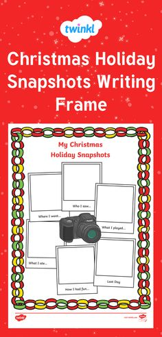This handy worksheet features boxes for your children to write where they went, who they saw, games they played, things they ate and what they did on their last day! Perfect for when they come back after Christmas.